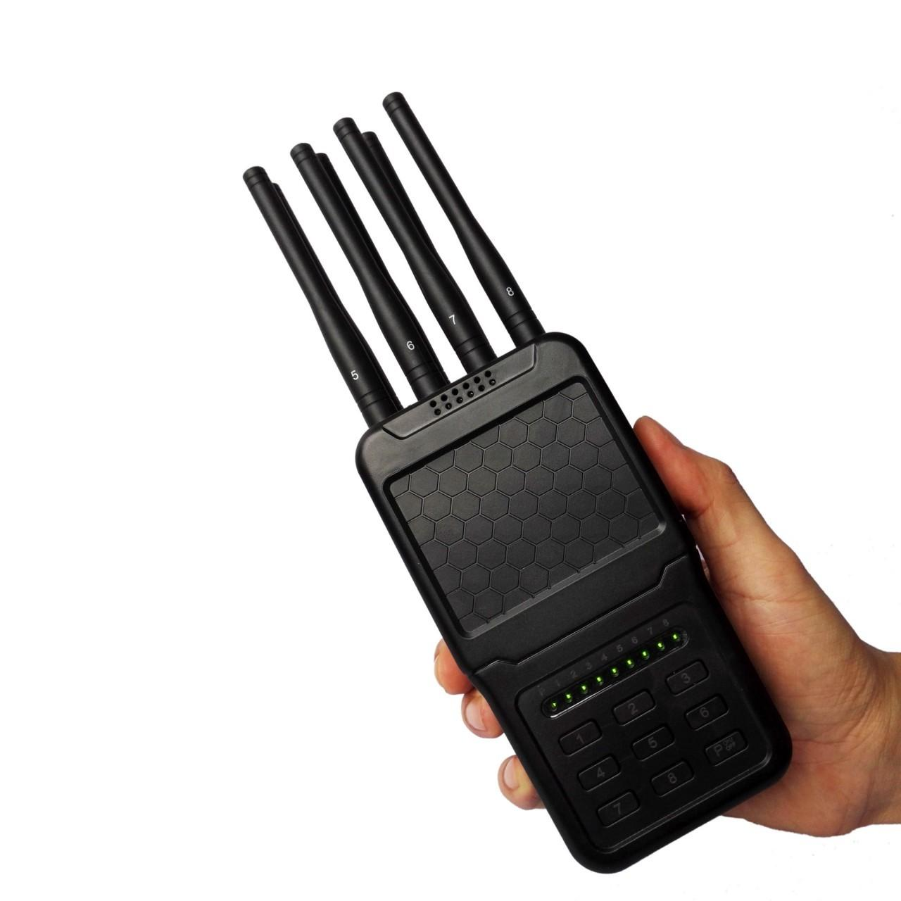 Selectable Keys Portable Cell Phone Signal Jammer 3G 4G WiFi GPS Blocker 8 Bands for sale