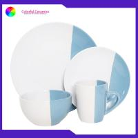 China Thanksgiving Ceramic Dinnerware Sets Coffee Cup Glazed Dessert Plate Soup Mugs for sale