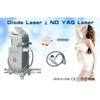China 808nm Diode Laser Hair Removal Machine / 1064nm ND YAG Laser Tattoo Removal for sale