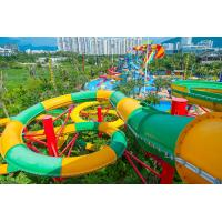 Fiberglass Closed Spiral Black Hole Water Amusement Park Slides For Adult for sale