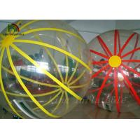 Colorful PVC / TPU Inflatable Walk On Water Ball 2m Diameter For Water Items for sale