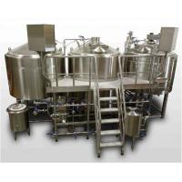 1500L  Mirror Polish Three Vessel Brewhouse With 50mm  PU Insulation And Plc Control for sale