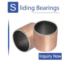 China Sintered PTFE CuPb10Sn Polymer Plain Bearings In Agriculture And Construction Industry supplier
