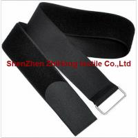 China Nylon Adjustable Hook And Loop Cable Ties With Buckle Customized Color supplier