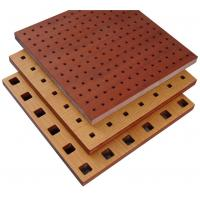 Fire Resistant Perforated Wood Acoustic Panels Thickness 18mm / 15mm for sale