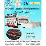 China Semi Automatic Corrugated Box Making Machine 4 Color Carton Flexo Printer for sale