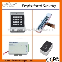 China Cheap security product standalone access control rfid card and pin with exit button power supply for sale