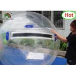 2m Dia PVC Inflatable Water Ball / Customized Japan Zipper Clear Water Walking Ball for sale
