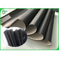 China Custom Recyclable Food Grade Kraft Paper 60gsm Printable Black Straw Paper Roll for sale