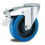 China 8 inch bolt hole locking rubber castors for sale