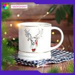 Christmas Gift Ceramic Coffee Mugs Embossed Tableware Sets Personalised Lead Free for sale