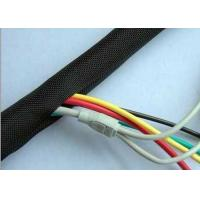 Heat Resistant Split Braided Wire Loom , Wire And Cable Sleeving Custom Size for sale