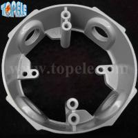 China 4 Die Cast Aluminum Round Weatherproof Electrical Outlet Boxes / Extension Rings supplier
