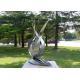 Matt Finish Stainless Steel Flower Sculpture, Outdoor Lotus Flower Sculpture for sale
