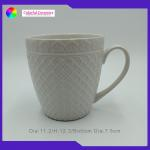 20 Oz Custom Embossed Coffee Mugs Durable Ceramic Promotional Mugs for sale