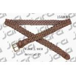 3.0cm Width Brown PU Mens Braided Belts With Old Brass Roller Buckle for sale