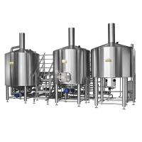 Electric Brewery 2500L Three Vessel Brewing System For Automatic Beer Fermentation for sale