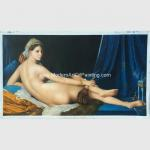 China Canvas People Oil Painting , Nude Woman Oil Painting Reproduction On Linen for sale