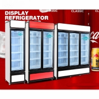 China Commercial Supermarket Glass Door Freezer Food Refrigerated Showcase for sale