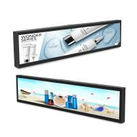 Stretched Bar Type LCD Advertising Display 29 Inches 300 - 1000 Nits Brightness