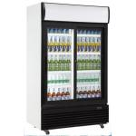 China Double Glass Door Chiller , 1010L Commercial Bar Fridge With Glass Door for sale