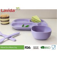 BPA Free Biodegradable Square Childrens Dinnerware Set With Customized Color and Pattern For Home School for sale