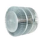 China Industrial Extruded Aluminum Heatsink For LED Fixture Round Extrusion Heatsink Profile for sale