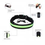 China Inflatable Smart LED Dog Collar / Custom Nylon Flashing Dog Leashes for sale