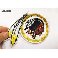 China 3 Tall Eco - Friendly Sequin Embroidery Patches For Woman Clothes supplier