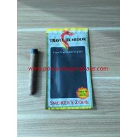 Re - Sealable Zipper Moisturizing Cigar Humidor Bags With Printed Logo