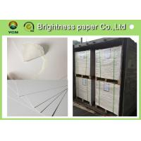 China Large White Card Sheets 350gsm , Recycled Coated Cardboard Sheets Anti - Curl for sale