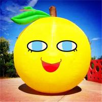 Customized Size Advertising Inflatables Lemon Fruit Model With Logo Printing for sale