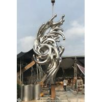 Handicraft Stainless Steel Garden Sculptures Color Customized With Surface Finish Painted for sale