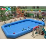Double - Stitched Blue Inflatable Pool Float For Commercial Water Park for sale