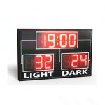 China Simple Use Standard Electronic Led Basketball Scoreboard In Red Colour for sale