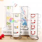 320ml Cute Monogram Coffee Mug Set With Holder , Coffee Cup Set With Stand for sale