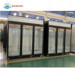 China -22C 3 Doors Upright Freezer Display Case Supermarket Refridgerators And Freezers for sale