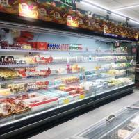 SASO Retail Refrigerated Display Cases , Refrigerated Fruits Display Cabinets for sale