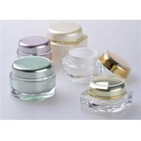 Square Bottle Cap Cosmetic Jars With Lids / Plastic Lotion Jars for sale