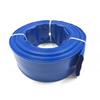 China Blue PVC Layflat Hose Aging Resistant Agricultural Irrigation PVC Water Pump Pipe For Water Discharge for sale