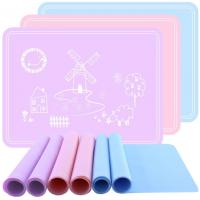 China Square Silicone Kids Product Mat , Silicone Placemat Plate Rollable supplier