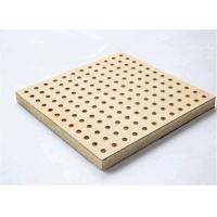 Theater Perforated Wood Acoustic Panels MDF Melamine Surface Aluminum Keel for sale