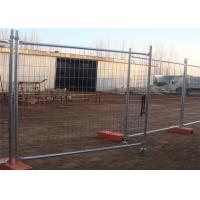 China Hot dip galvanized removable temporary  fencing crowd control barriers panels for sale