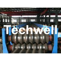 Galvanized Plate / Steel Corrugated Sheet Roll Forming Machine for For Wall Panel