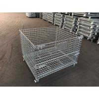 storage cage wire mesh container/industrial stackable storage/Storage Containers Collapsible Eur Container with Wheels