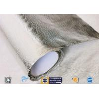 Hose Silver Heat Resistant Fabric / Aluminum Foil Fiberglass Composite Fabric for sale