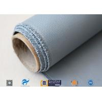 Satin Weave Silicone Coated Fiberglass Fabric 40/40g Gray Color 1m Width for sale