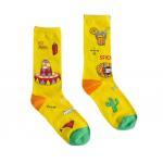 China Trendy Popular Colorful Dress Socks , Jacquard Logo Stylish Dress Socks Girls Cotton Socks for sale