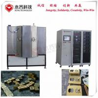 Matte Gold Plating Machine,304 / 316 Stainless Steel Cathodic Arc Deposition System For Metal Brushing Gold Coating for sale
