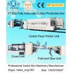 China Carton Manufacturing Machine Flexo Printer Slotter Die Cutter With Folder Gluer Bundler for sale